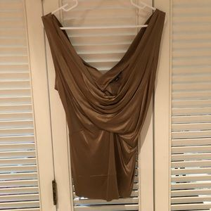 NWOT banana Republic drape neck gold/bronze top